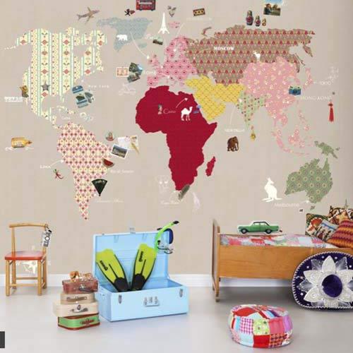 неповторимая карта мира из обоев