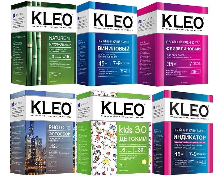Обойный клей производителя KLEO